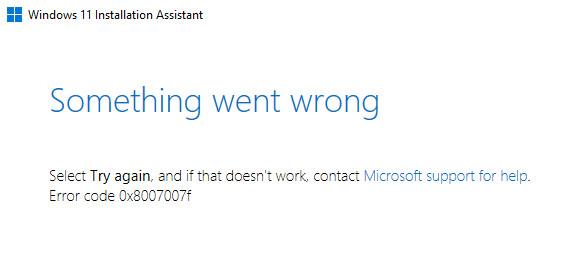 Ошибки 0x8007007f и Ox8COF0830 при установке Windows 11