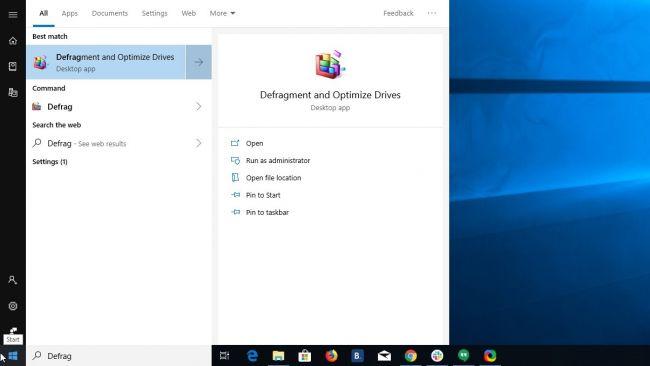 средство дефрагментации в Windows 10