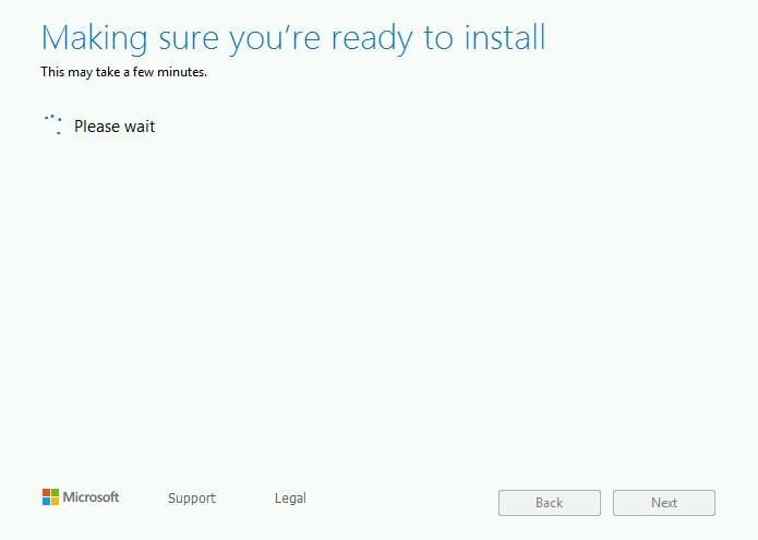 Программа установки Windows 10 теперь проверит совместимость, чтобы убедиться, что вы готовы установить Windows 10
