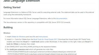 Photo of Расширения языка Java для SQL Server на GitHub
