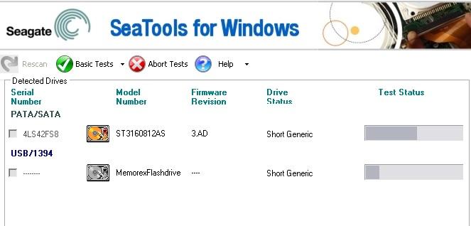 SeaTools для Windows