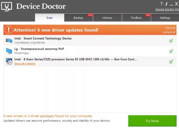 Device Doctor  Программа обновления драйверов