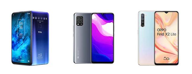 TCL 10 5G, Xiaomi Mi 10, Lite Oppo Find X2 Lite