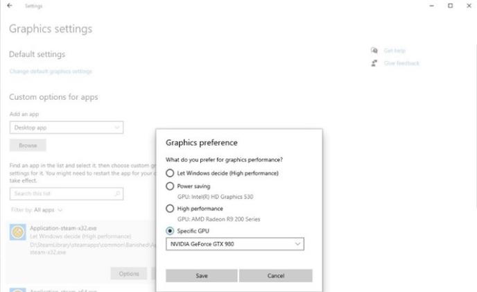 Настройки видеокарты для игры Windows 10