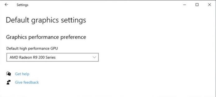 Настройки видеокарты для определенной игры Windows 10