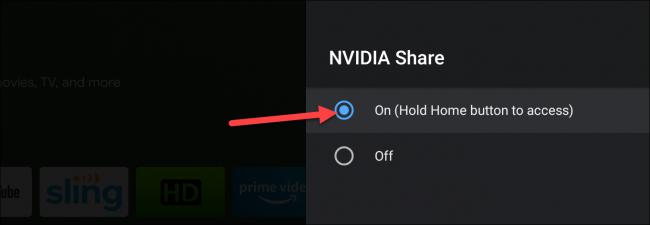скриншот на Nvidia Shield TV
