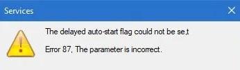Ошибка 87 Windows