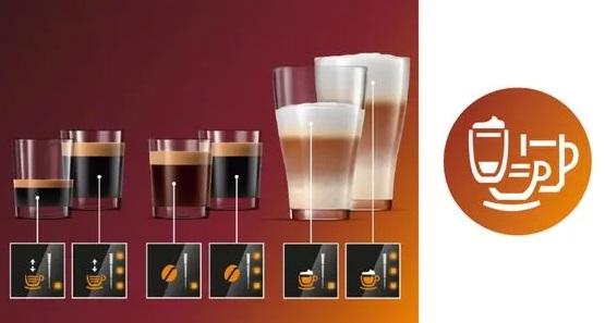 Регулировка объема кофе и воды Philips EP3221