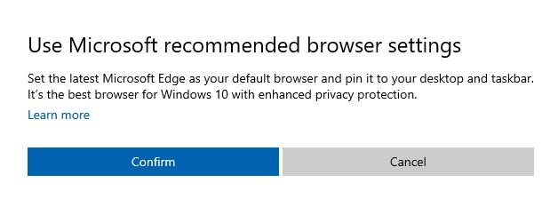 Windows 10 начнет продвигать Microsoft Edge через приложение настроек 2