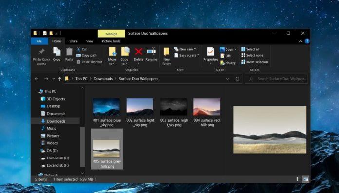 обои Surface Duo для Windows 10