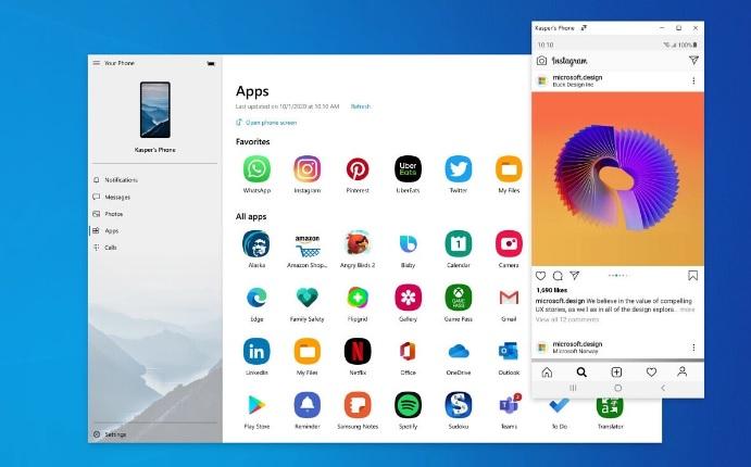 Microsoft обещает параллельную потоковую передачу приложений Android в Windows 10