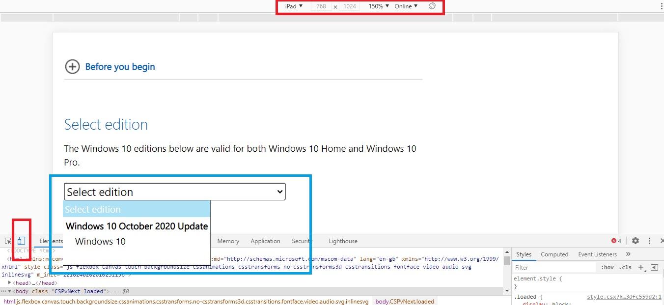 Как скачать ISO образ Windows 10 October 2020 Update