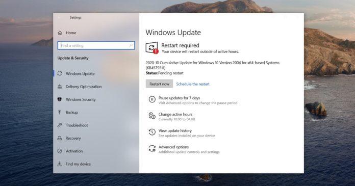 Обновления Windows 10, октябрь 2020, что изменилось