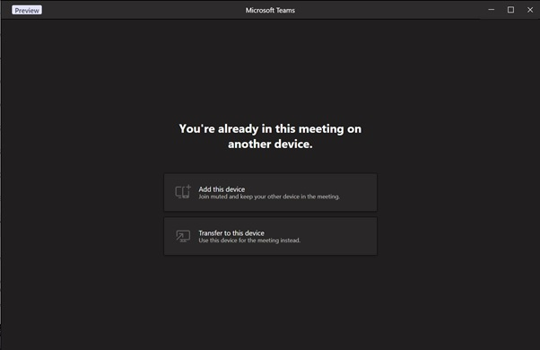 Переключение между компьютером и телефоном  в Microsoft Teams