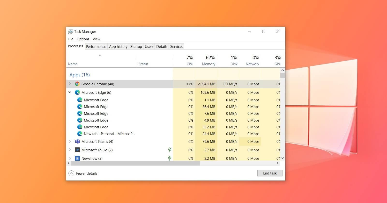 Почему браузеры в Windows 10 создают так много процессов