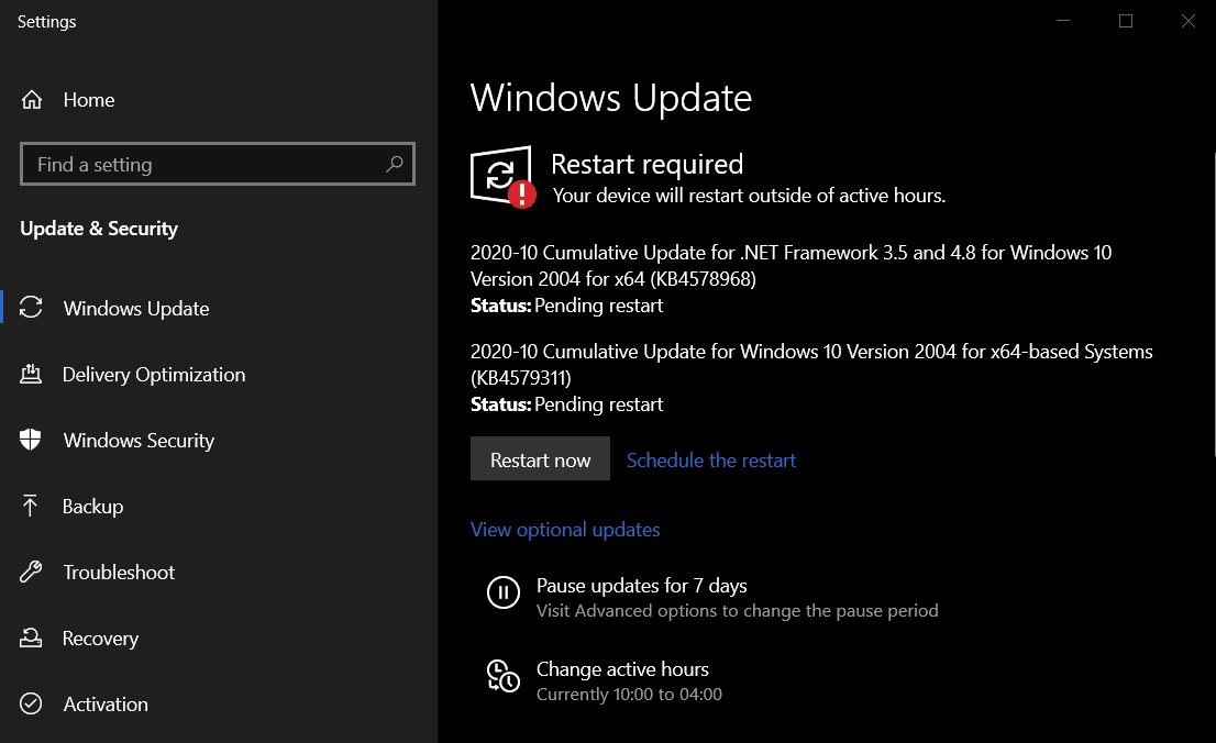 Windows 10 KB4579311  (сборка 19041.572)