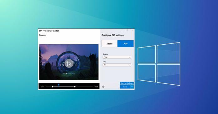 инструмент записи Видео и Gif в Windows 10