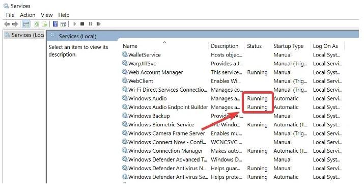 как включить аудио службу в windows 10
