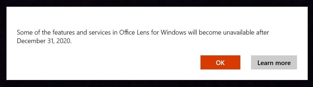 удалят Office Lens