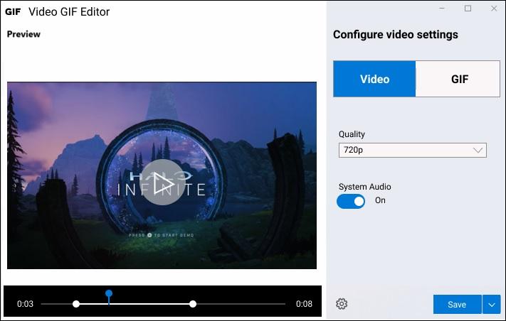 Новый инструмент записи Видео и Gif в Windows 10