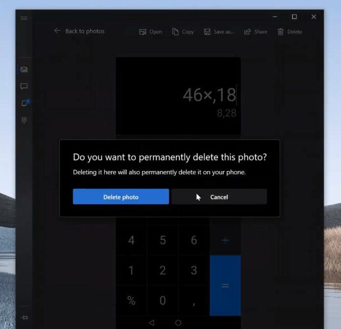 Как удалить фото в приложении Ваш Телефон