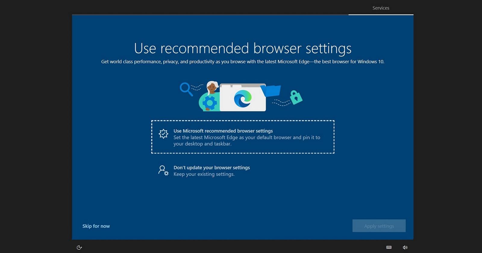 Windows 10 выводит полноэкранный баннер рекламы Microsoft Edge