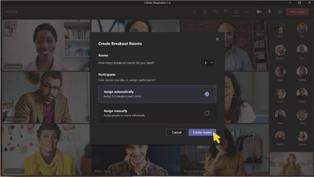 Microsoft Teams разделение комнат (3)
