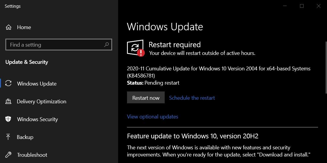 Обновления за ноябрь Windows 10