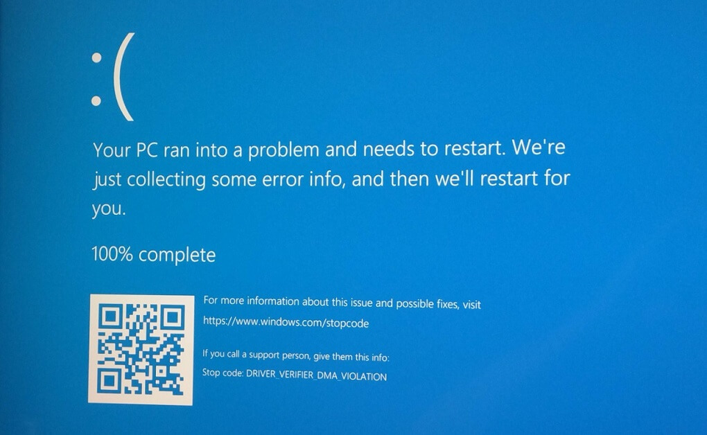 Синий экран смерти Windows 10 версии 2004 и 20H2