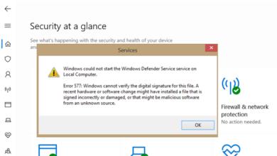 Photo of Ошибка 577 Защитника Windows, не удается проверить цифровую подпись