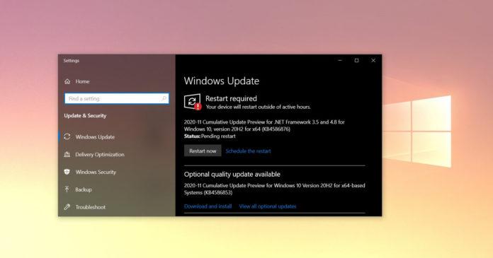 обновление Windows 10 KB4586853