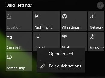 новый дизайн Центра поддержки Windows 10