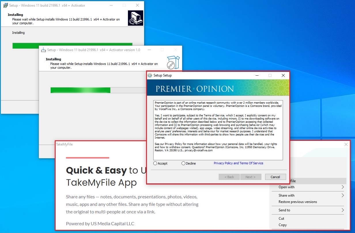 Пиратский установщик Windows 11
