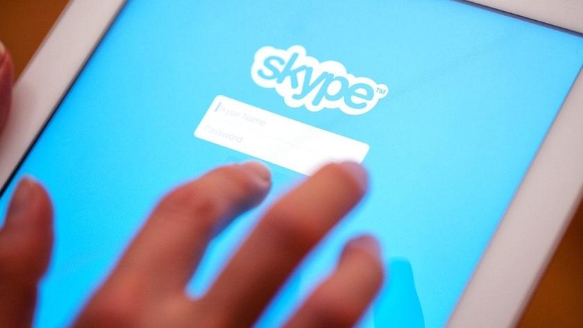 Авторизация в Skype на планшете