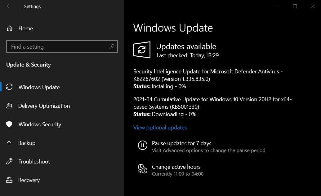 Сборка 19042.928 для Windows 10 версии 20H2