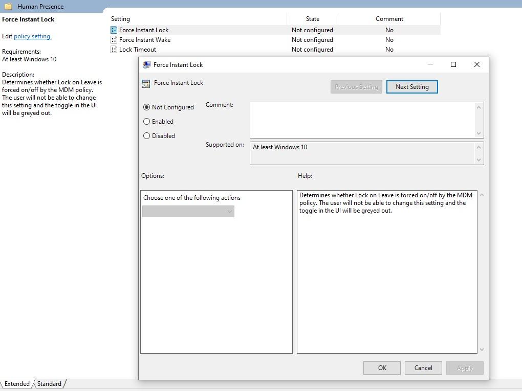 Функция включения ноутбука через камеру в WIndows 10