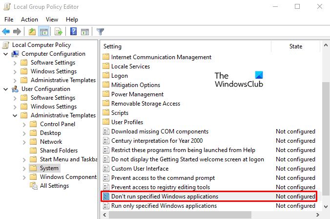 Отключить PowerShell в Windows 10 с помощью групповой политики