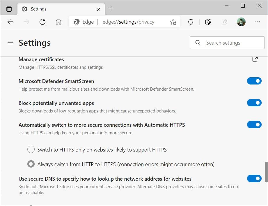 Настройка Http на Https сайтов в Edge