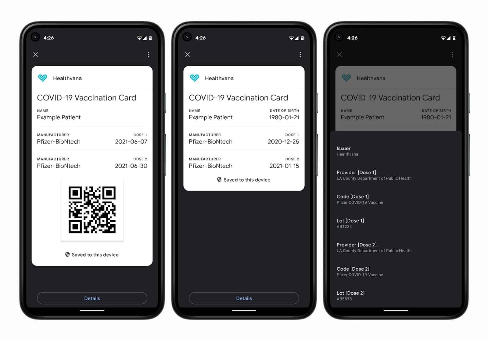 Справка COVID-19 в Google Pay