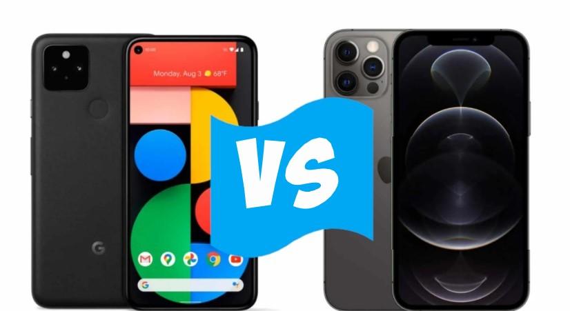 Google Pixel 5 и Apple iPhone 12 Pro