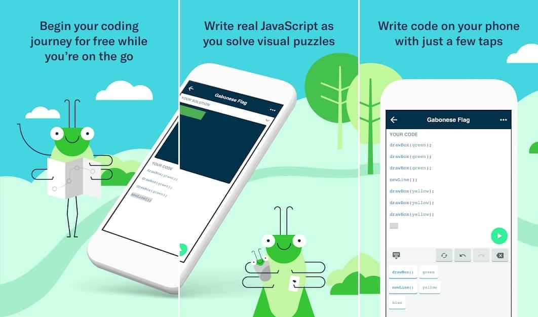 Grasshopper приложение для программирования для детей на Андроид