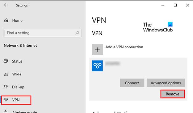 Как удалить VPN с помощью сетевых подключений в Windows 10