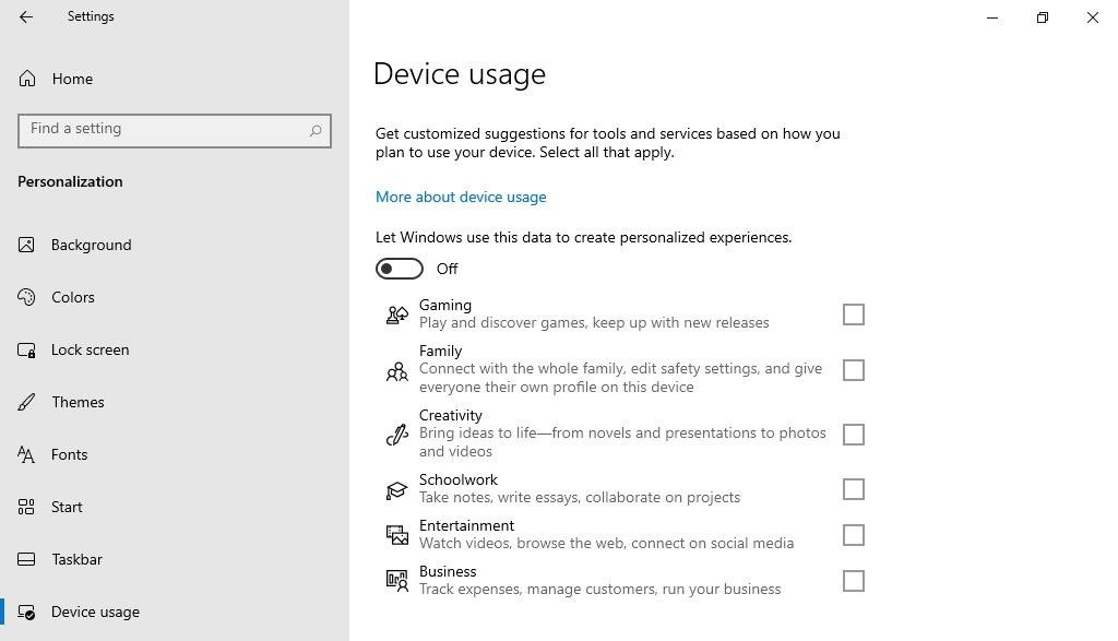 Использование устройства Windows