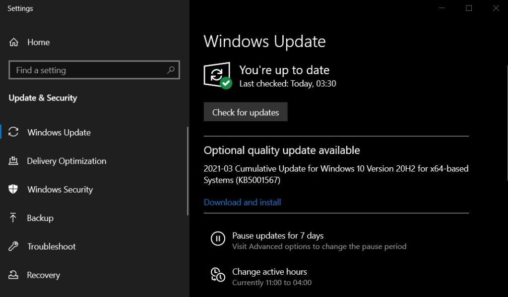 Windows 10 KB5001567 для исправления ошибки BSOD в KB5000802
