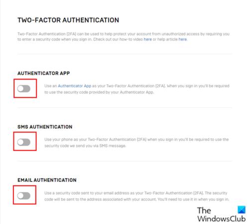 Как включить двухфакторную аутентификацию (2FA) для вашей учетной записи Epic Games