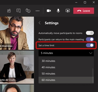 Комнаты обсуждения Microsoft Teams