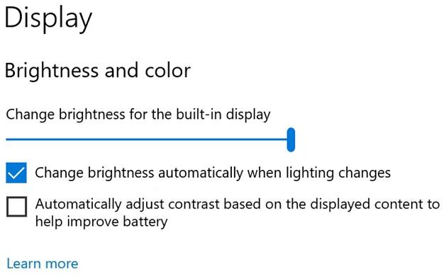 Настройки дисплея В Windows 10 версии 21H2