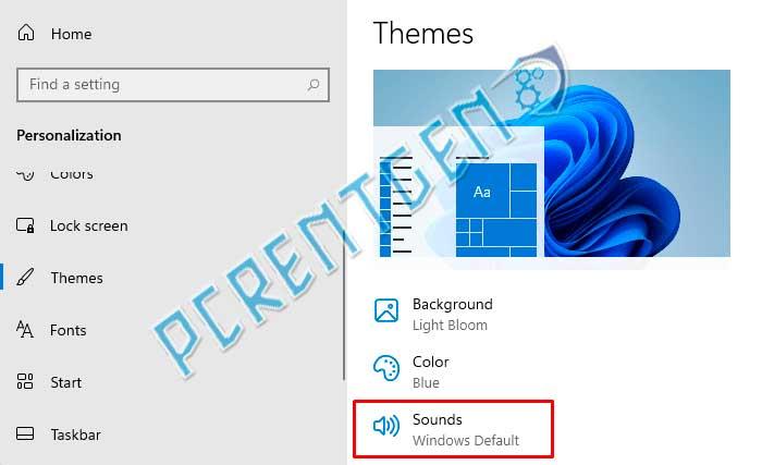 Настройки звука при запуске в Windows 11