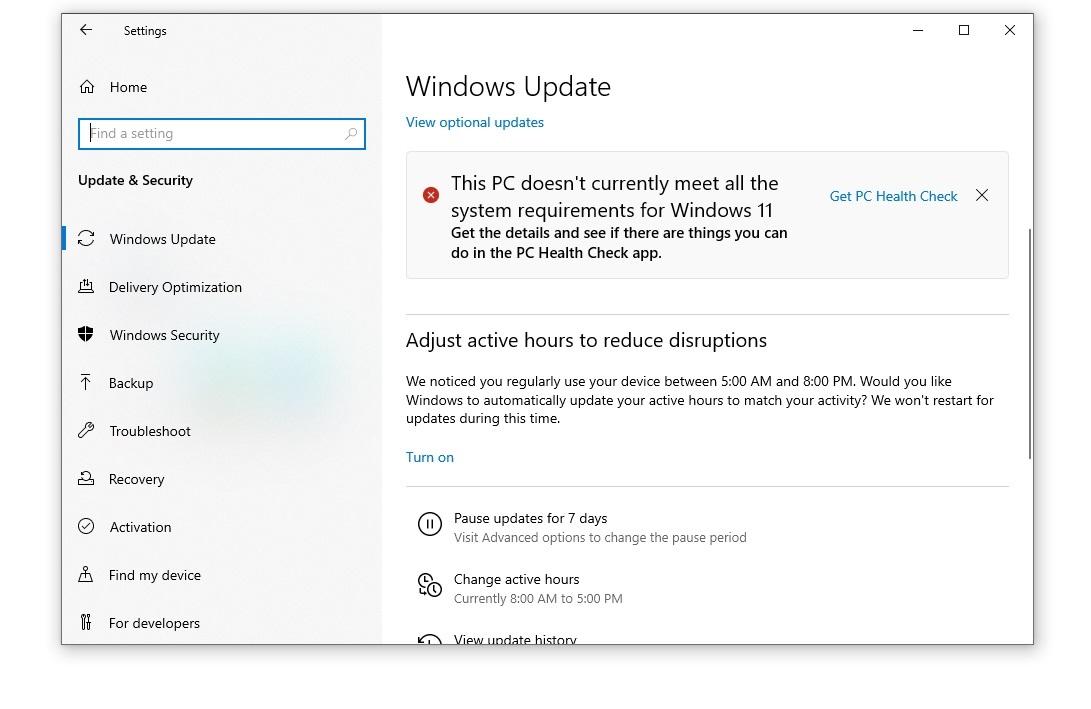 Ошибка: Этот компьютер не может запустить Windows 11