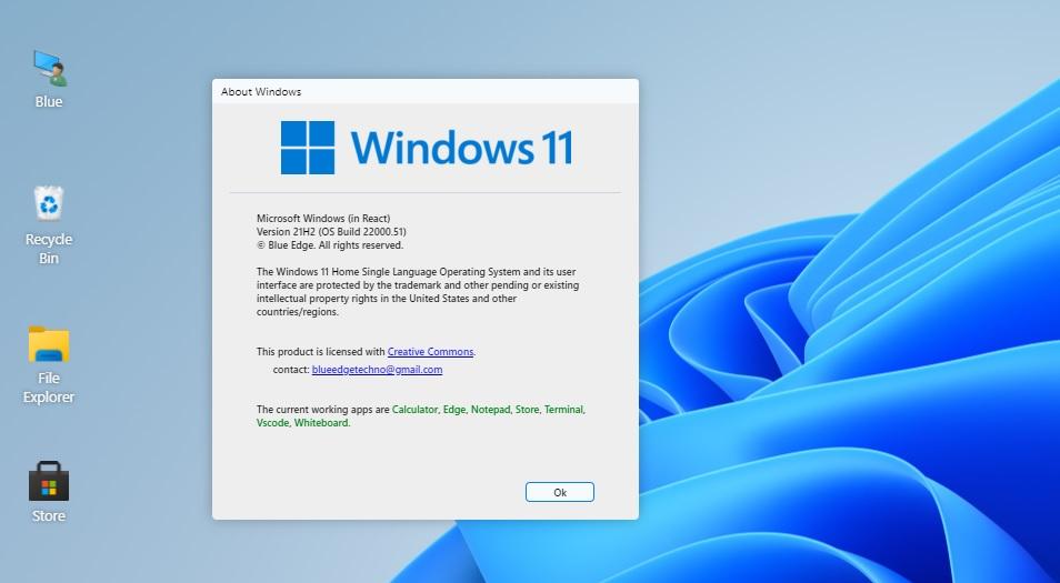 Симулятор Windows 11 без загрузки ОС